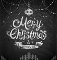 christmas chalkboard card 2 vector image vector image