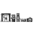 photo cameras evolution set vector image