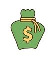 cartoon money bag business finance vector image