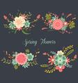 Chalkboard Spring Flowers vector image