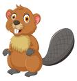 cute beaver cartoon posing vector image