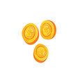 gold coin with dollar sign cartoon vector image