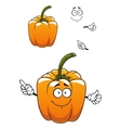 Orange cartoon bell pepper vegetable vector image