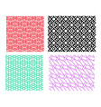 set of geometric pattern in linear style vector image