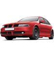 Spanish 5 door hatchback vector image