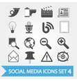 Social media icons set 4 vector image vector image