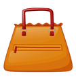 An orange bag vector image