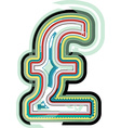 Abstract colorful Pound sign vector image vector image