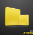Yellow boxes vector image