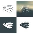 Logo wing set vector image