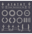 flower decorative set vector image