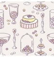 Seamless pattern with hand drawn candy bar objects vector image vector image