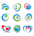 icons and symbols vector image vector image