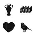 amphora cartridge and other web icon in black vector image