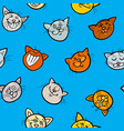 cartoon wrapping paper with cats vector image