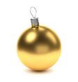 golden christmas ball vector image
