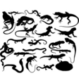 reptiles silhouettes vector image