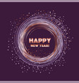 rose gold star on violet night color vector image