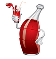 soda bottle vector image