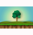 alone tree in the field vector image