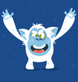 Angry cartoon monster yeti for Halloween vector image