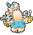 DAD THE HANDYMAN vector image vector image