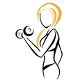 Fitness symbol vector image