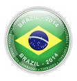 brazil button vector image vector image