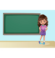 Girl and board vector image vector image