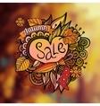 decorative autumn sale blurred background vector image