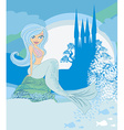 a Beautiful mermaidcastle and fish vector image