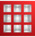 3D shelves vector image vector image