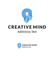 Creative Logo with Man Head and Lamp for vector image