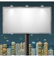 Blank billboard at night time vector image vector image