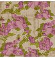 vintage viola flowers vector image