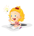Child studying vector image vector image