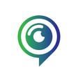 abstract eye pin chat logo vector image