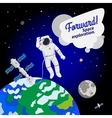 Astronaut floating in outer space icon vector image