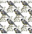 Beautiful Spring Watercolor Bird pattern vector image
