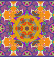 flowers on violet orange and yellow colors flat vector image
