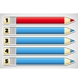 Infographics with numbered pencils vector image