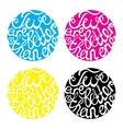 Lettering element in four colors for wedding vector image