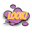 look text comic word vector image