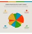 Modern infographics in a pie chart for web or vector image