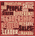 Sales And Leadership The Differences That Matter vector image