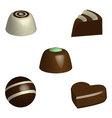 set of chocolate pralines in 3D vector image