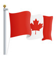 waving canada flag isolated on a white background vector image