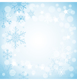 winter light blue background vector image