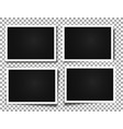 photo frames realistic photo templates vector image