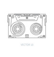 Line flat icon audiocassette hipster style vector image